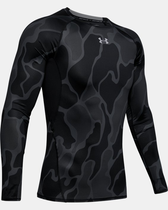 Men's HeatGear® Armour Long Sleeve Shirt, Black, pdpMainDesktop image number 4