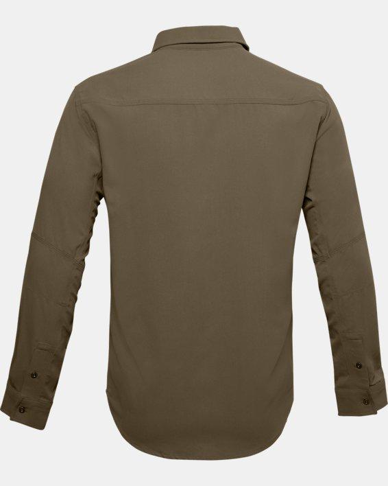 Men's UA Payload Button Down Shirt, Brown, pdpMainDesktop image number 4