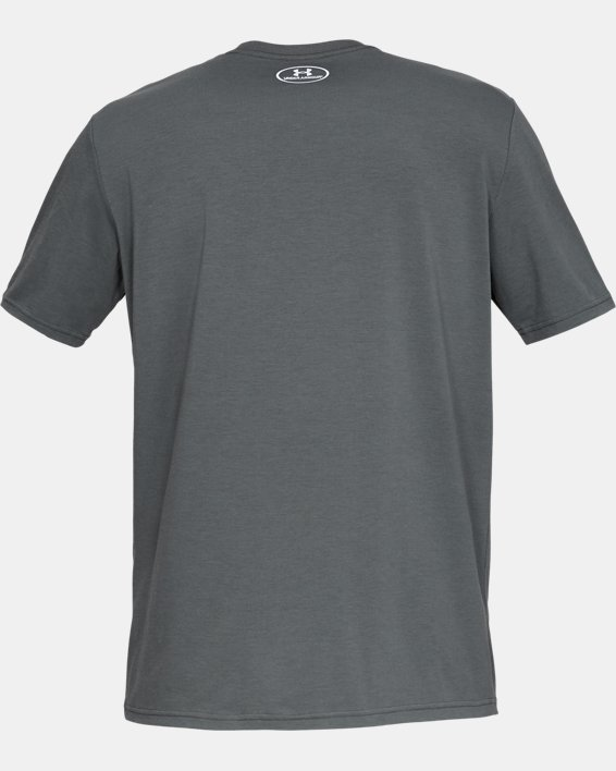 Men's Project Rock Rents Due Short Sleeve T-Shirt, Gray, pdpMainDesktop image number 5
