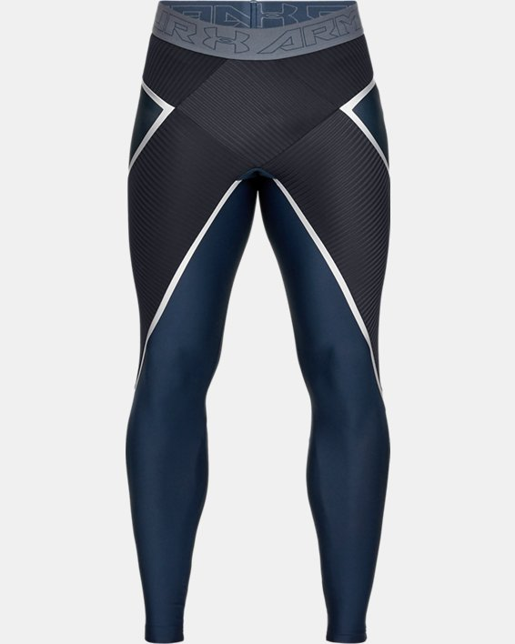Men's Project Rock Core Leggings, Navy, pdpMainDesktop image number 4