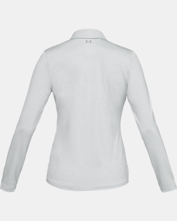 Women's UA Zinger Long Sleeve Polo, Gray, pdpMainDesktop image number 4