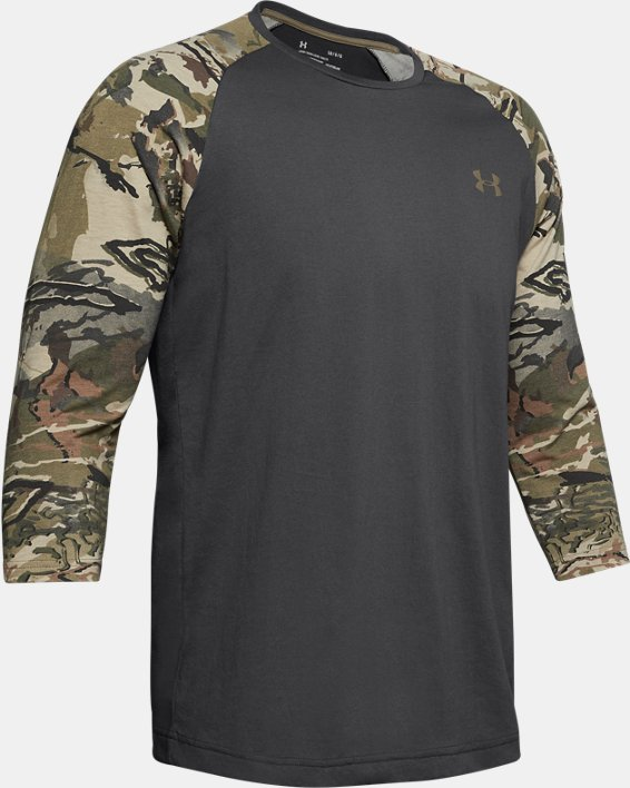 Men's UA Camo Sleeve Utility T, Gray, pdpMainDesktop image number 4