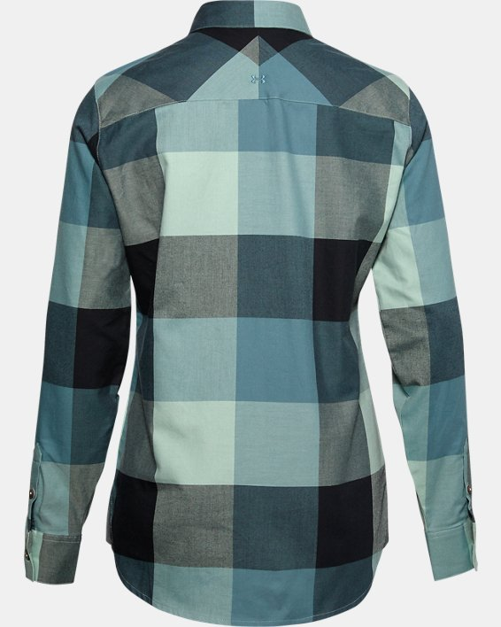 Women's UA Tradesman Flannel 2.0, Blue, pdpMainDesktop image number 1