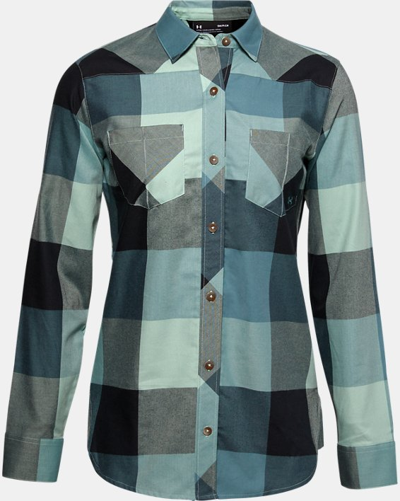 Women's UA Tradesman Flannel 2.0, Blue, pdpMainDesktop image number 0