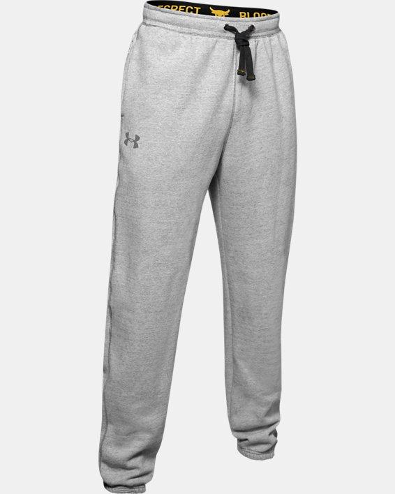 Men's Project Rock Warm-Up Pants, Gray, pdpMainDesktop image number 4