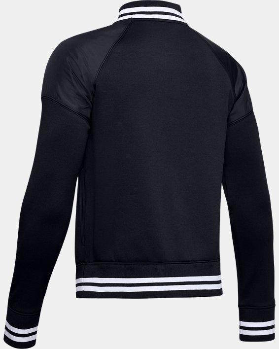 Boys' Armour Fleece® Bomber Jacket, Black, pdpMainDesktop image number 1