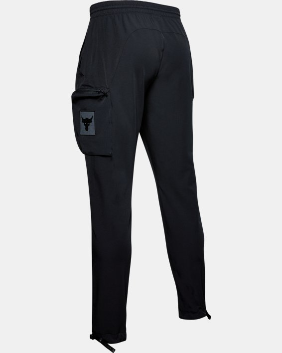 Men's Project Rock Woven Cargo Pants, Black, pdpMainDesktop image number 5