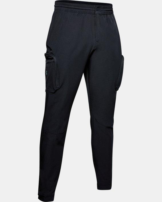 Men's Project Rock Woven Cargo Pants, Black, pdpMainDesktop image number 4