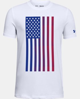 New Arrival Boys' UA USA Flag Short Sleeve T-Shirt  1  Color Available $20