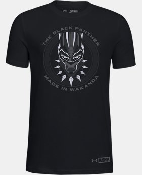 Boys' UA Made in Wakanda Black Panther T-Shirt  1  Color Available $25