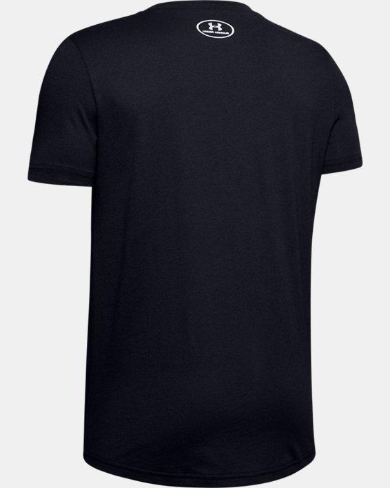 Boys' UA Colorshift Box Logo Short Sleeve, Black, pdpMainDesktop image number 1