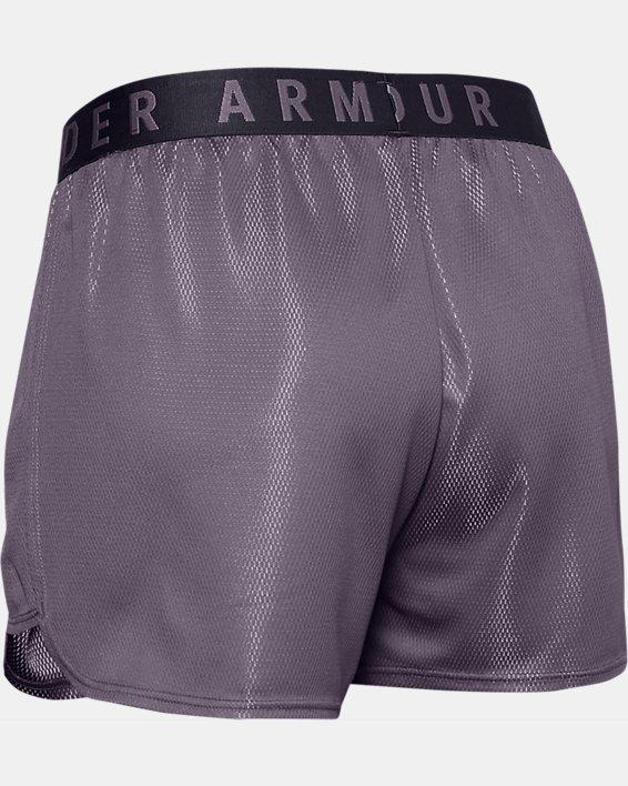 Women's UA Play Up Metallic Shorts, Gray, pdpMainDesktop image number 5