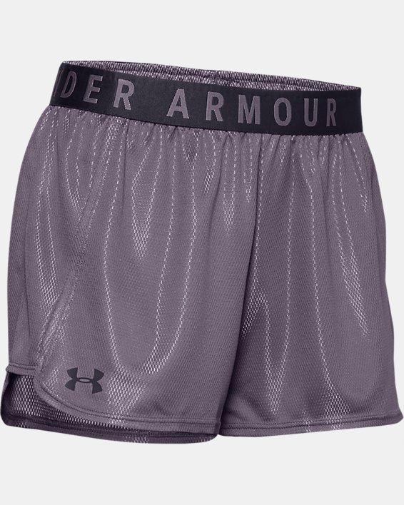 Women's UA Play Up Metallic Shorts, Gray, pdpMainDesktop image number 4