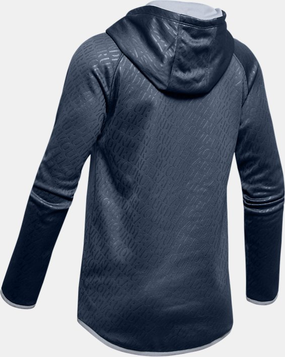 Girls' Armour Fleece® Emboss Hoodie, Gray, pdpMainDesktop image number 5