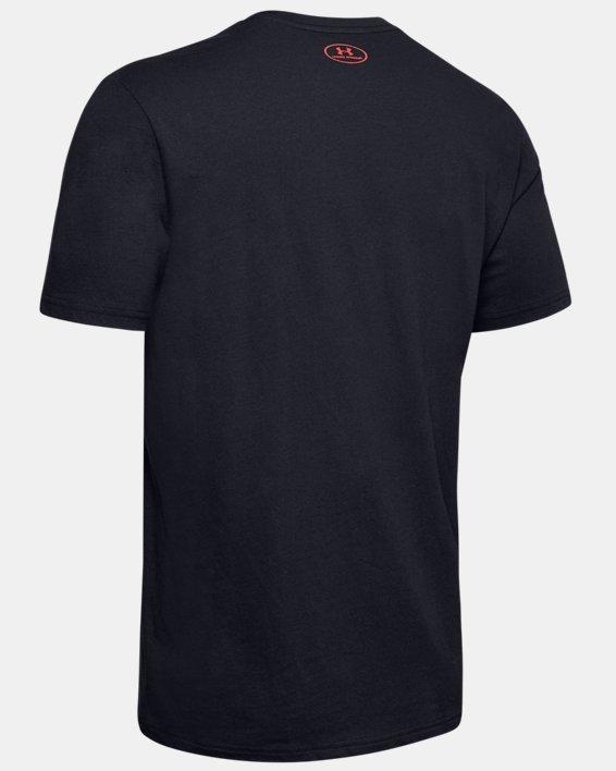 Men's UA Football Stack T-Shirt, Black, pdpMainDesktop image number 5