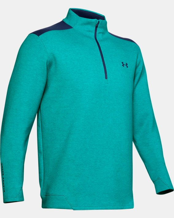 Men's UA Storm Playoff ½ Zip, Green, pdpMainDesktop image number 4