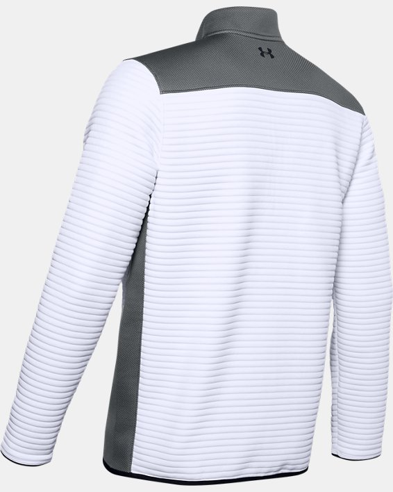 Men's UA Storm Daytona ½ Zip, White, pdpMainDesktop image number 5