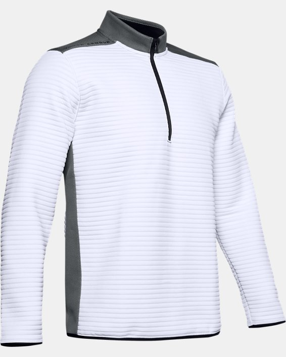 Men's UA Storm Daytona ½ Zip, White, pdpMainDesktop image number 4