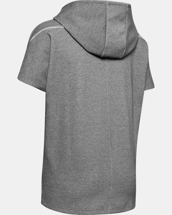 Women's Project Rock Double Knit Short Sleeve Tunic, Gray, pdpMainDesktop image number 5