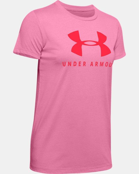 Women's UA Graphic Sportstyle Classic Crew, Pink, pdpMainDesktop image number 4