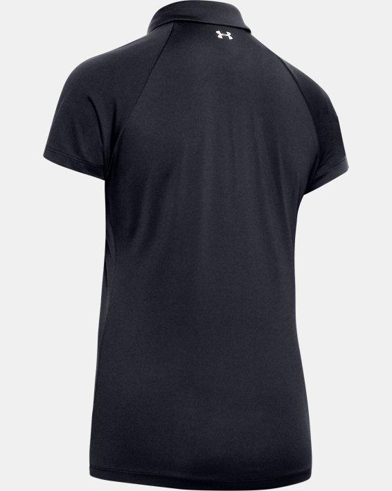 Women's UA Zinger Polo, Black, pdpMainDesktop image number 5