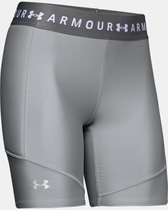 Women's UA Softball Slider Shorts, Gray, pdpMainDesktop image number 4