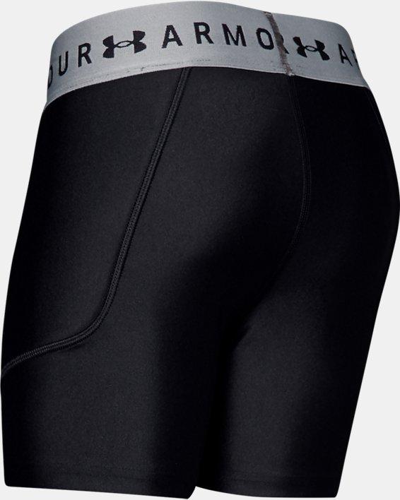 Girls' UA Softball Slider Shorts, Black, pdpMainDesktop image number 1