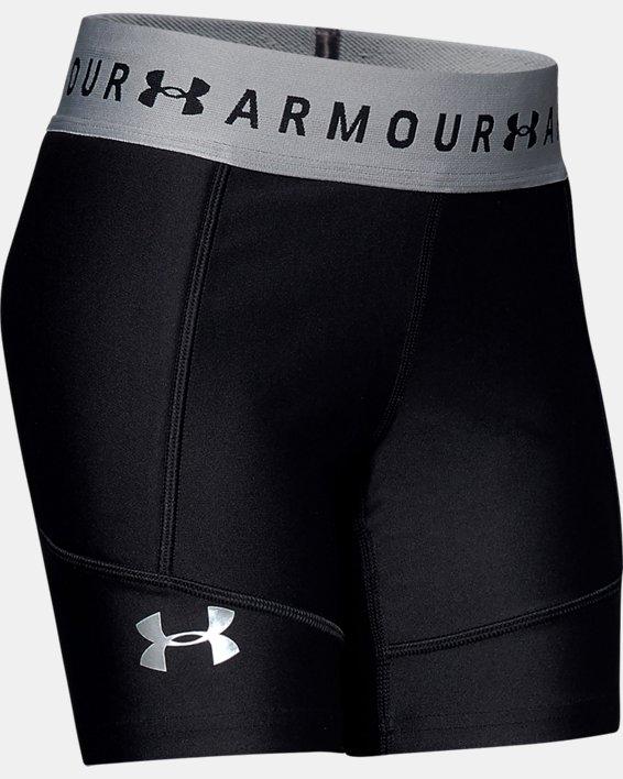 Girls' UA Softball Slider Shorts, Black, pdpMainDesktop image number 0