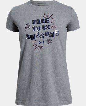 Girls' UA Free To Be Awesome Short Sleeve T-Shirt  1  Color Available $20