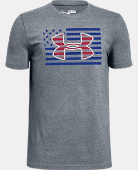 New Arrival Boys' UA Big Logo Americana Short Sleeve T-Shirt FREE U.S. SHIPPING 1  Color Available $20