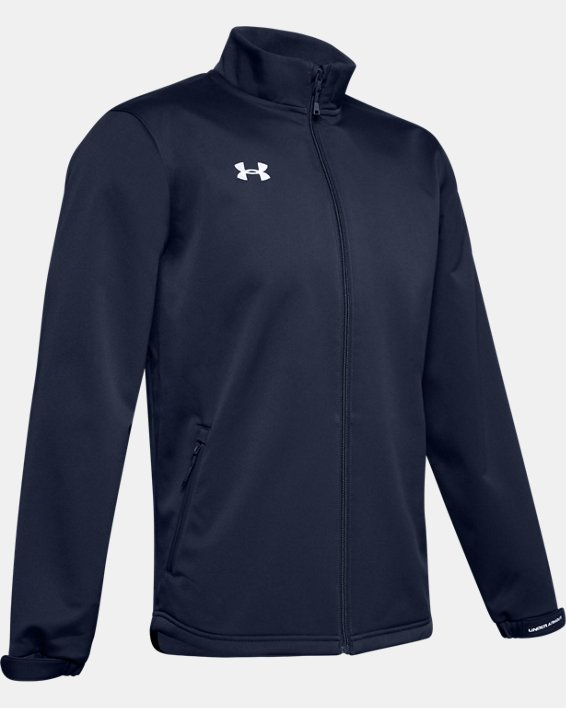 Men's UA Hockey Softshell Jacket, Navy, pdpMainDesktop image number 4