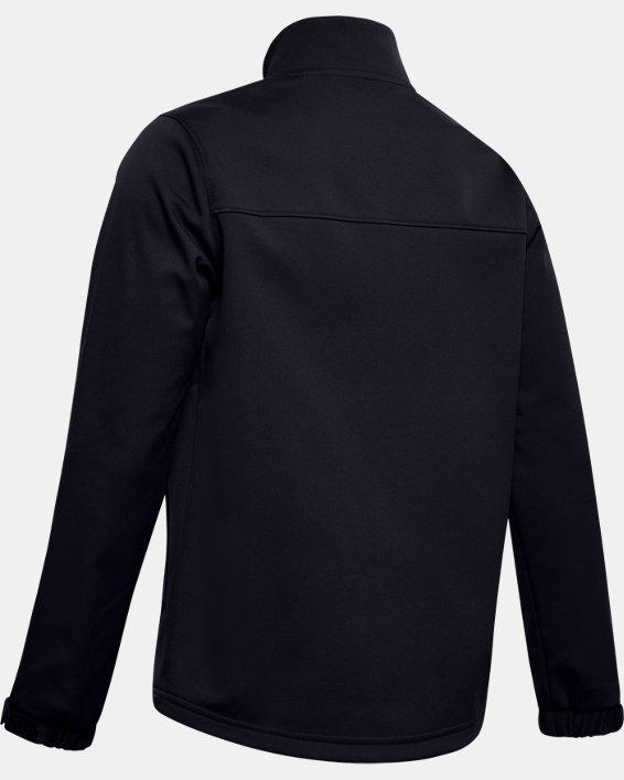 Boys' UA Hockey Softshell Jacket, Black, pdpMainDesktop image number 1