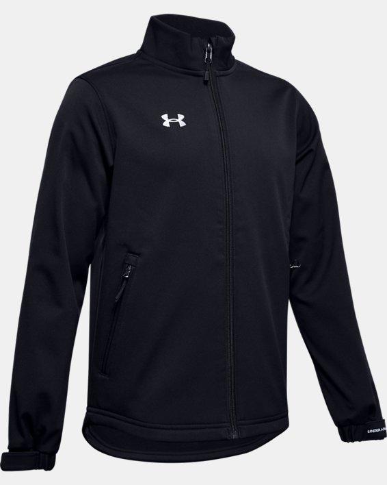 Boys' UA Hockey Softshell Jacket, Black, pdpMainDesktop image number 0