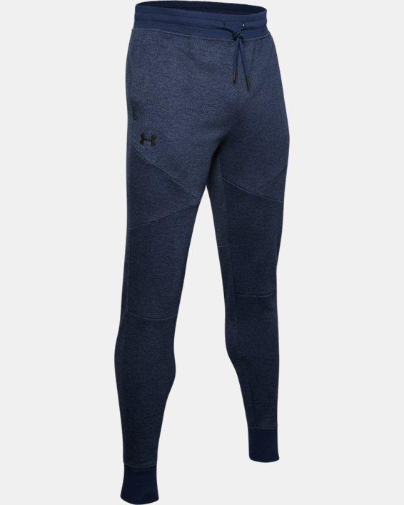 Men's UA Double Knit Heavyweight Joggers, Navy, pdpMainDesktop image number 4
