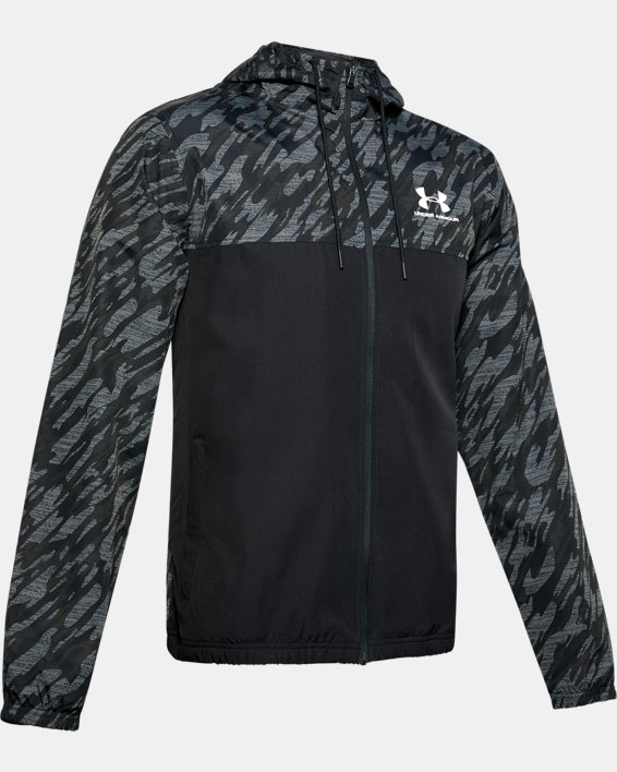 Men's UA Sportstyle Windbreaker Jacket, Black, pdpMainDesktop image number 4