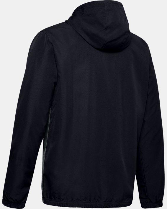 Men's UA Sportstyle Windbreaker Jacket, Black, pdpMainDesktop image number 5
