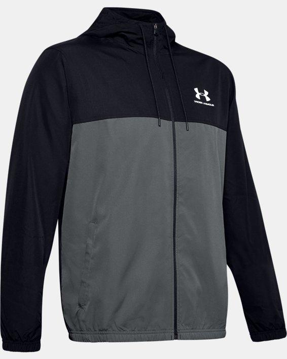 Men's UA Sportstyle Windbreaker Jacket, Black, pdpMainDesktop image number 4