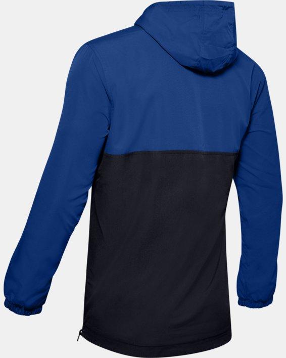 Men's UA Sportstyle Wind Anorak, Blue, pdpMainDesktop image number 4
