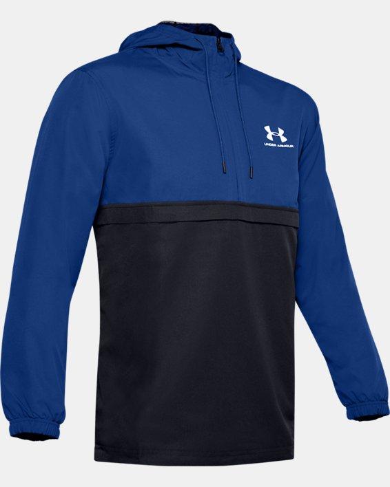 Men's UA Sportstyle Wind Anorak, Blue, pdpMainDesktop image number 3