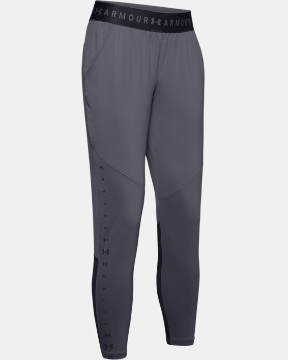 Women's UA Armour Sport Graphic Pants, Gray, pdpMainDesktop image number 4