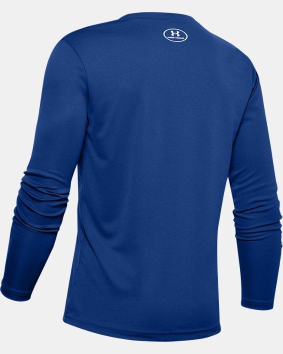 Boys' UA Velocity Basketball Long Sleeve, Blue, pdpMainDesktop image number 1