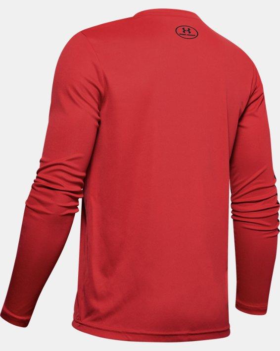 Boys' UA Velocity Baseball Long Sleeve, Red, pdpMainDesktop image number 1