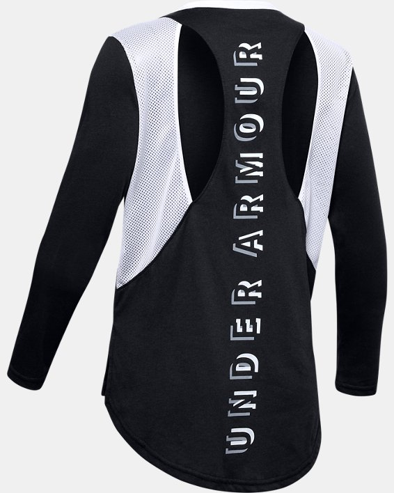 Girls' UA Sportstyle Long Sleeve, Black, pdpMainDesktop image number 1