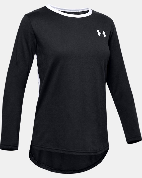Girls' UA Sportstyle Long Sleeve, Black, pdpMainDesktop image number 0