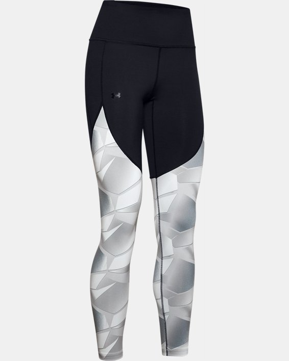 Women's UA Reflect Hi-Rise Printed Leggings, Black, pdpMainDesktop image number 4