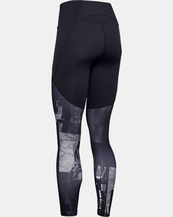 Women's UA Reflect Hi-Rise Printed Leggings, Black, pdpMainDesktop image number 5