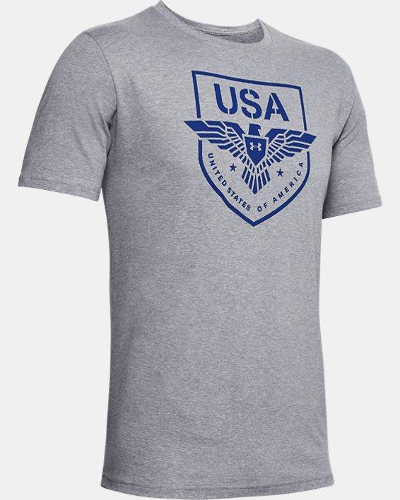 Men's UA USA Eagle T-Shirt, Gray, pdpMainDesktop image number 4
