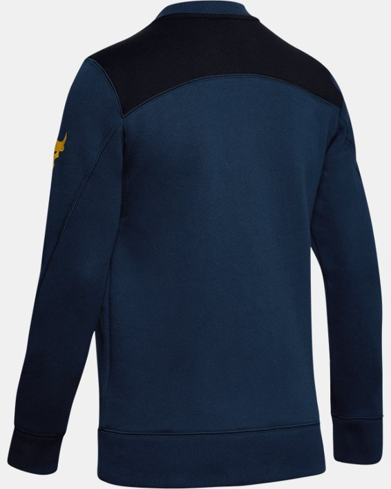 Women's UA Freedom x Project Rock Originators Fleece Crew, Navy, pdpMainDesktop image number 5