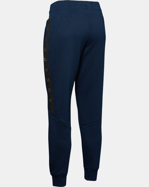 Women's UA Freedom x Project Rock Originators Fleece Pants, Navy, pdpMainDesktop image number 6