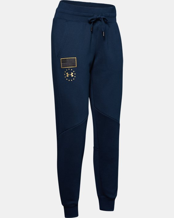 Women's UA Freedom x Project Rock Originators Fleece Pants, Navy, pdpMainDesktop image number 5